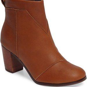 Toms LUNATA New Boot Women 10 NIB Leather Comfort